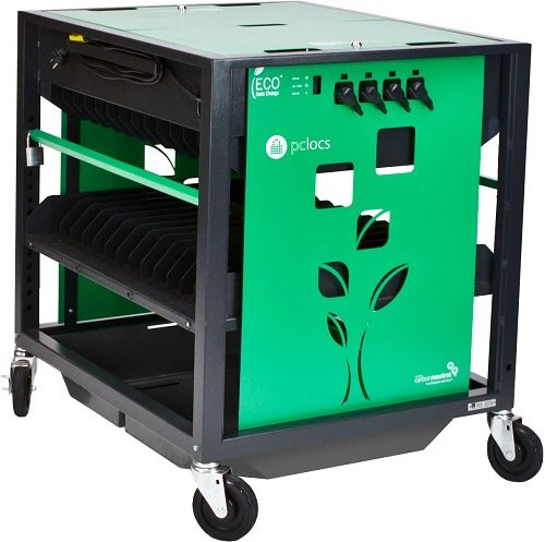 PC Locs Revolution ECO 28 Bay Laptop Charging Cart