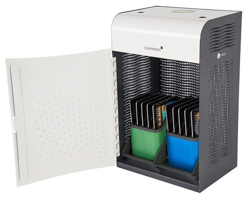 Baskets inside PC Locs Carrier 10 Charging Station