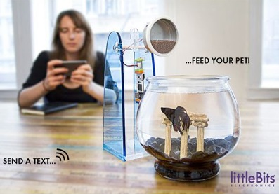 Fish feeder - What you can make with LittleBits