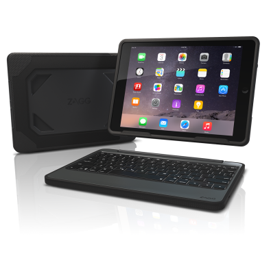 Zagg Rugged Book with Backlit Keyboard for iPad Air 2