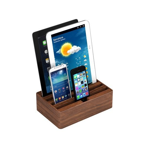 Medium Walnut Alldock with devices (devices not included)