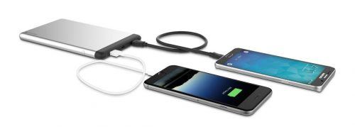 Mophie PowerStation 5X Portable Power Pack in use