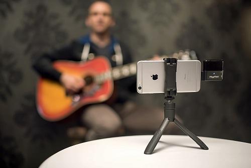 Recording music using iKlip Grip Multifunctional Video Stand