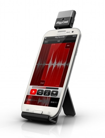 Using the app with iRig Mic Cast Microphone