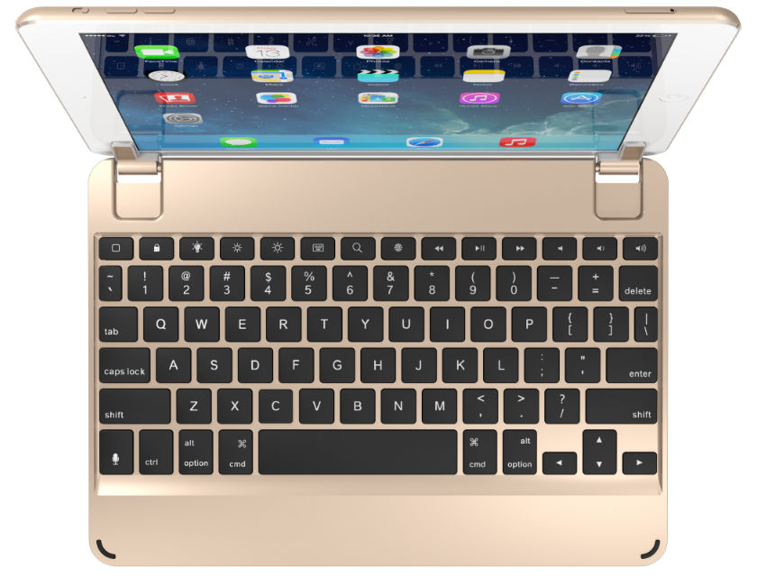 Brydge Keyboard Case for iPad - Gold