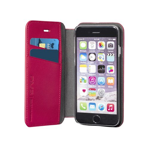 NVS Premium Leather Wallet Folio for iPhone 6/S