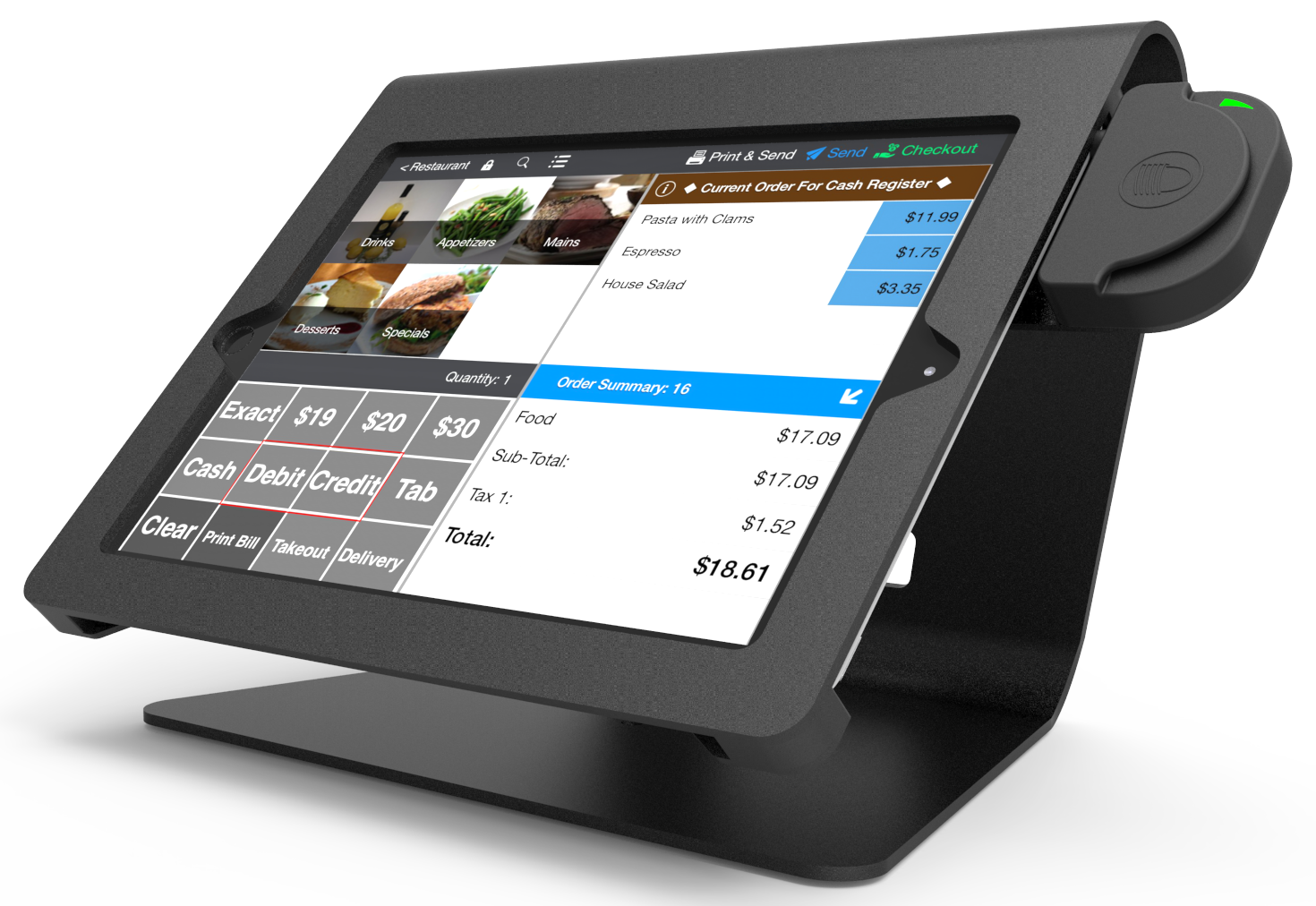 Compulocks Nollie iPad POS Stand black front