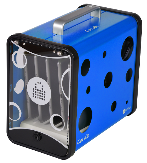 PC Locs Carry-On Charging Station blue