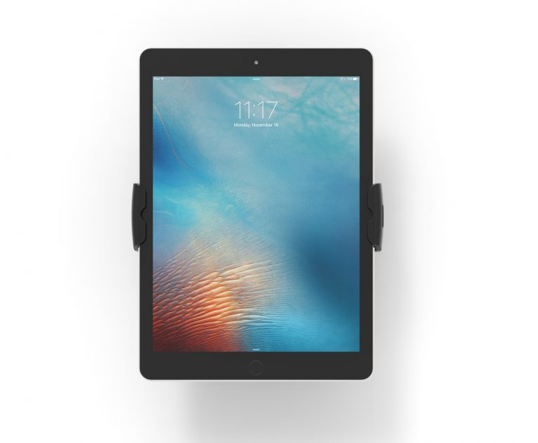 Compulocks Secure Cling VESA Wall Mount black showing tablet