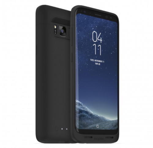 Mophie Juice Pack Wireless Charging Case and Base For Galaxy S8_black