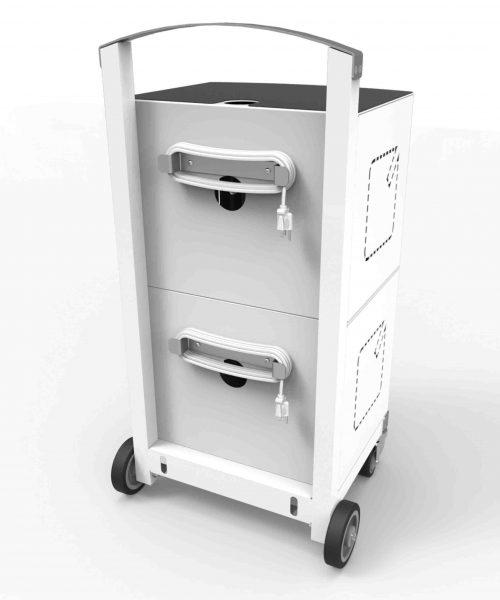 Compulocks CartiPad Duo Modular Charging Cart_back