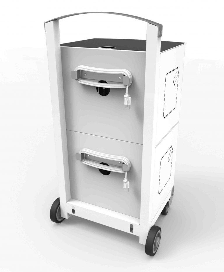 Compulocks CartiPad Duo Modular Charging Cart back