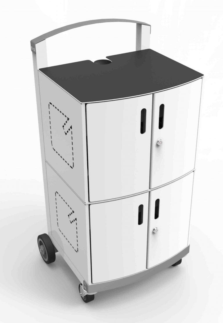 Compulocks CartiPad Duo Modular Charging Cart front