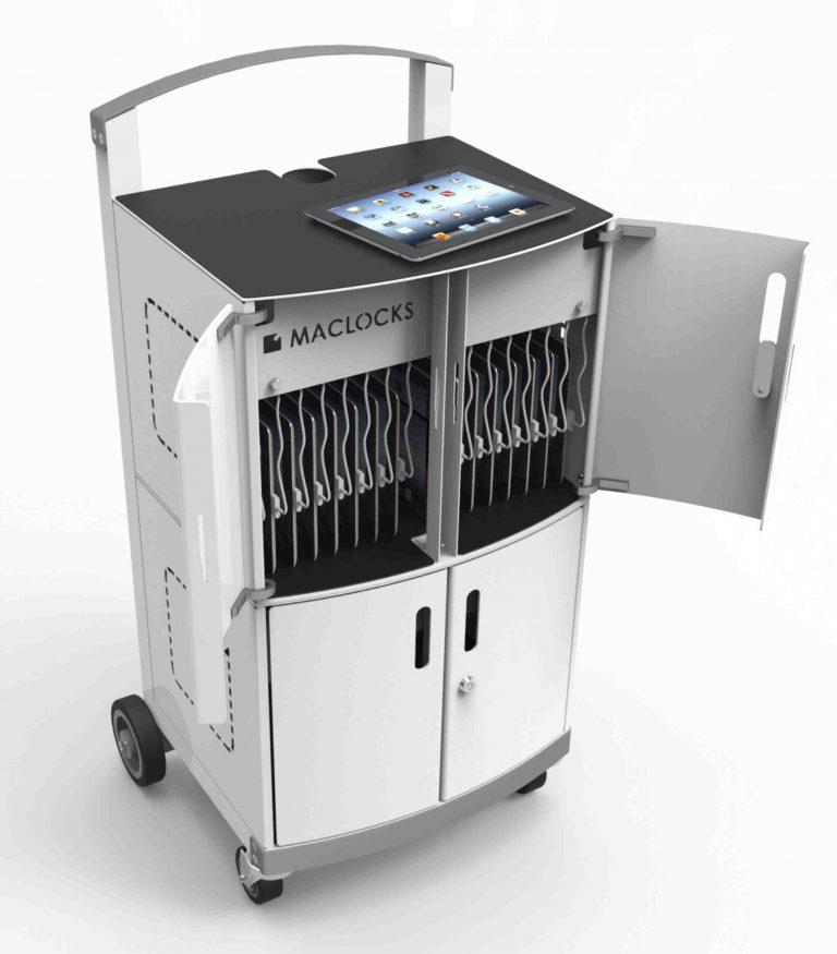 Compulocks CartiPad Duo Modular Charging Cart open