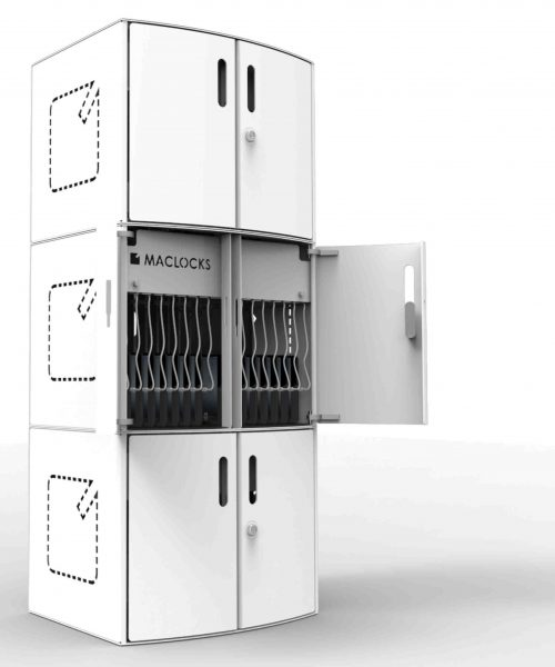 Compulocks CartiPad Solo Modular Charging Cabinet stacked