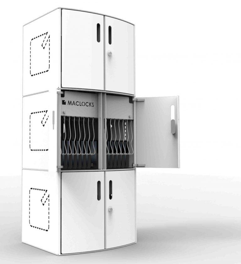 Compulocks CartiPad Solo Modular Charging Cabinet stacked