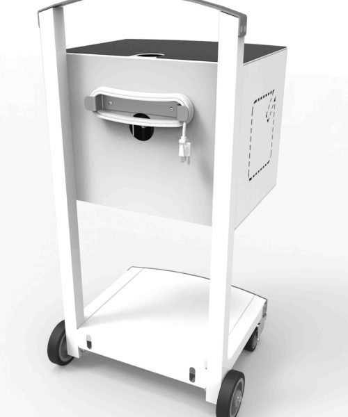 Compulocks CartiPad Uno Modular Charging Cart back