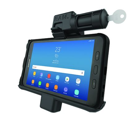 RAM Mounts Locking Powered Cradle for Galaxy Tab Active 2