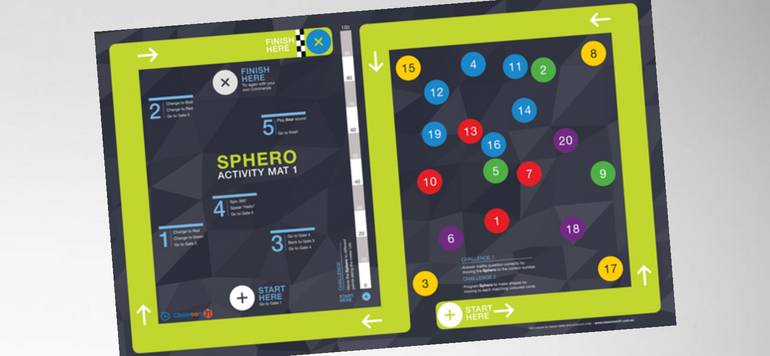 Sphero Activity Mat 1 is a great new STE resource for schools