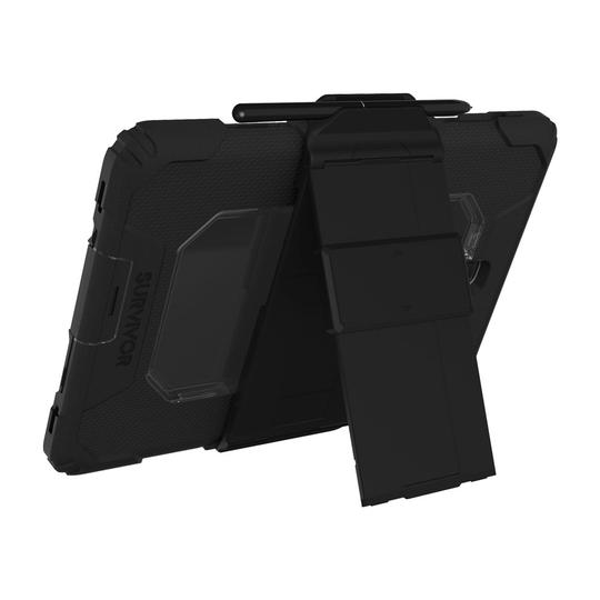 Protects your tablet from 6.6ft drops onto concrete Selaed ports keep out windblown rain, sand and dust Inner crash shell with foam panels deflects impacts Outer silicone layer absorbs shocks and vibrations Anti-scratch screen shield protects touchscreen