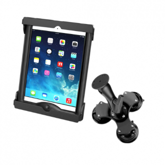 RAM Tab-Tite Universal Cradle for 10 Tablets with Triple Suction Mount