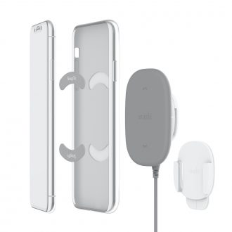 Moshi SnapTo Magnetic Wireless Charger and Wall Mount Kit
