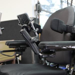 Wheelchair mount for phone