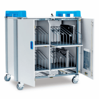 LapCabby TabCabby 32 Vertical 32-Device Charging Trolley open