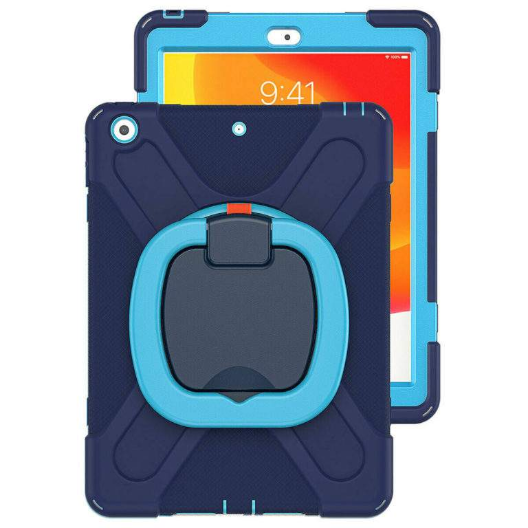 StylePro Shockproof Rugged Case with Ring Stand for iPad 10.2 blue