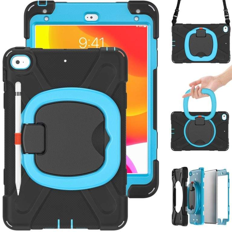 StylePro Shockproof Rugged Case with Ring Stand for iPad 10.2 strap