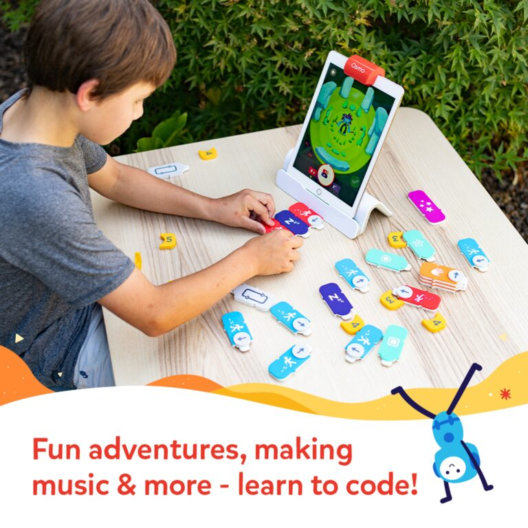 Osmo Coding Starter Kit for iPad for Ages 5-12 in use