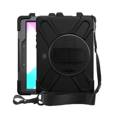 Strike Rugged Case with Hand Strap and Lanyard for Samsung Galaxy Tab Active Pro