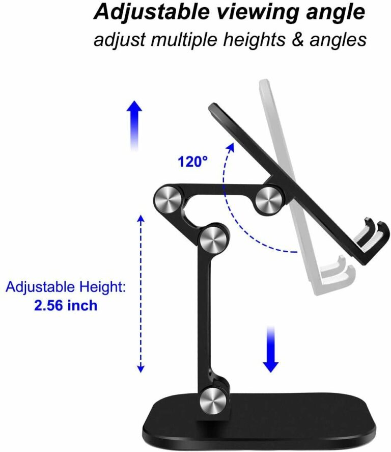 StylePro Adjustable Phone and Tablet Stand - Black angles